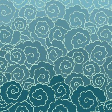 Japanese cloud or water pattern