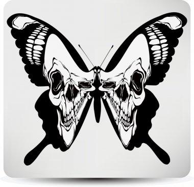 Butterfly skull. Vector illustration