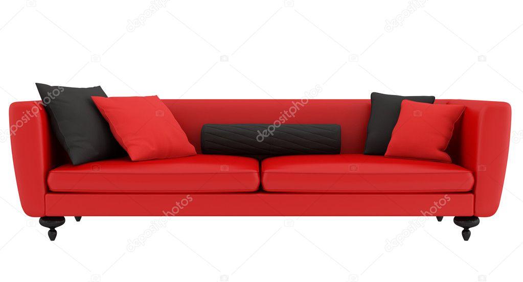 Divano Rosso E Nero : Divano rosso e nero u foto stock archideaphoto