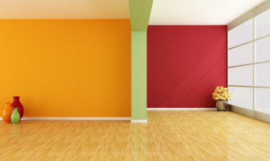 Empty colorful interior