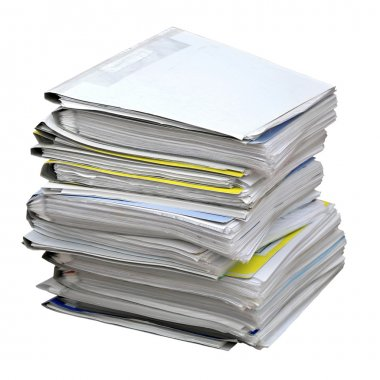 Stack of colored folders