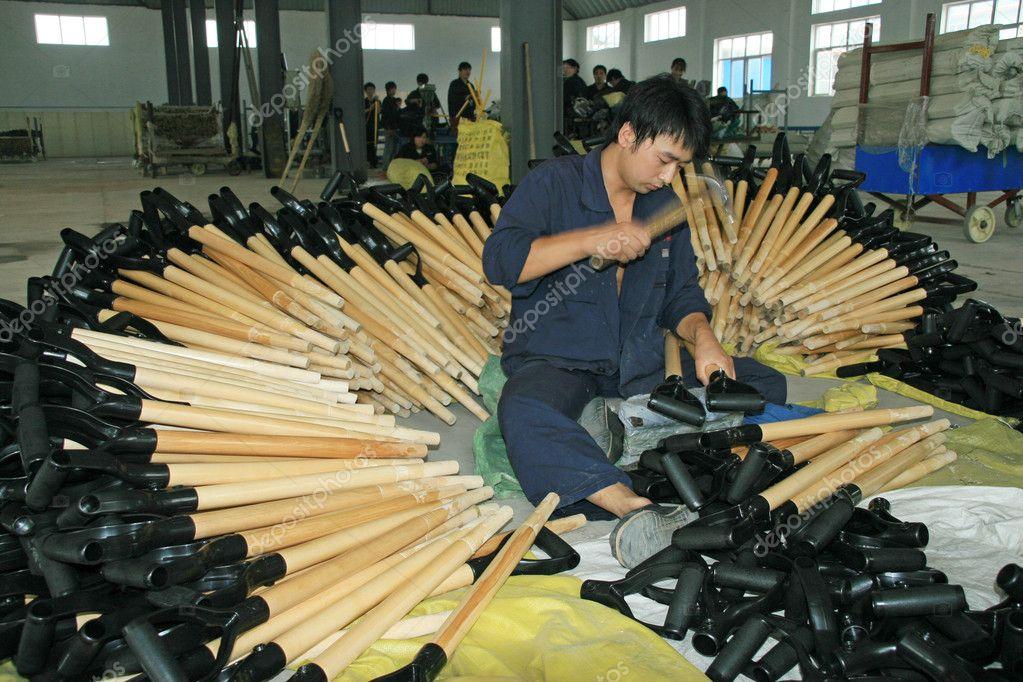 Steel shovels production line