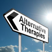 alternativní terapie koncept.