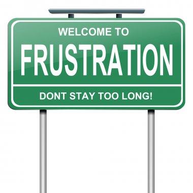 Frustration concept.