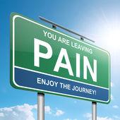 concetto di dolore.