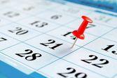 Fotografia calendario e puntina