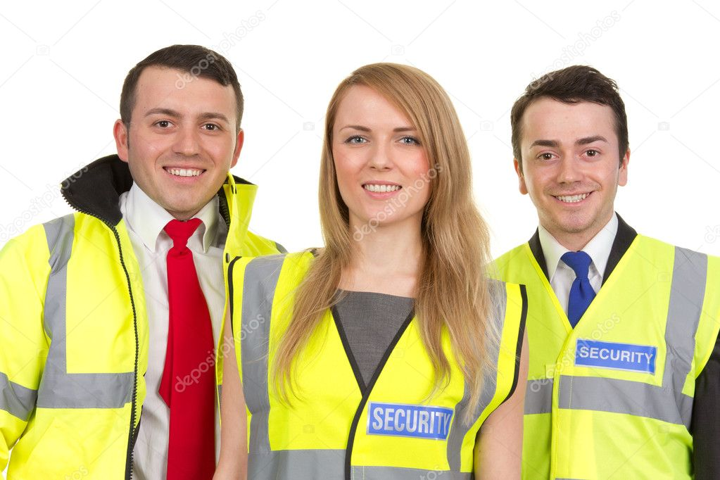 Three security guards