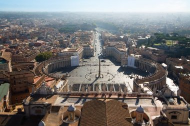 VIEW FROM THE TOP OF ST. PETER'S BASILICA, ROME
