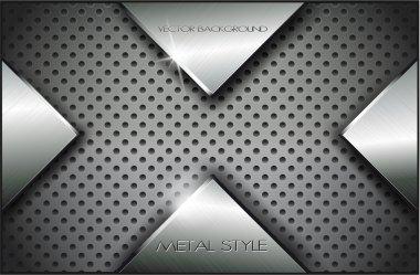 Metal background.Vector illustration 9