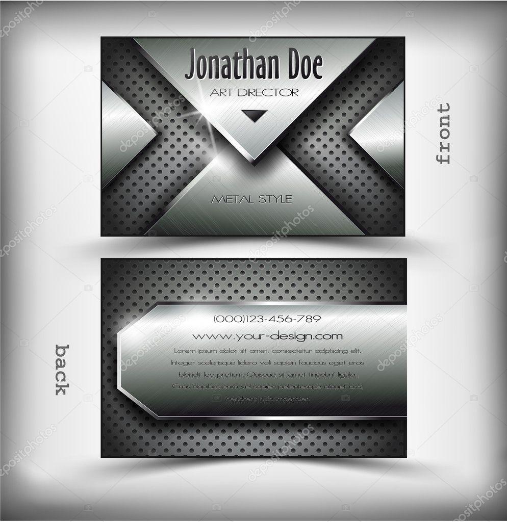 Visitenkarte Metall Design Stockvektor Osipovev 10771690