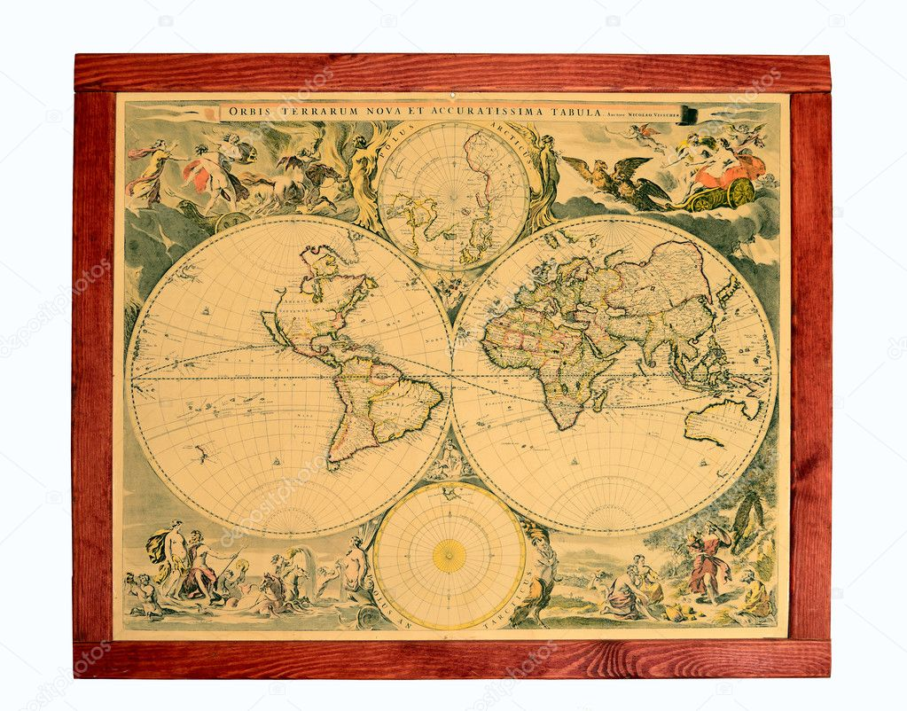 Old world map stock photo dengess 10943271 the isolated photo of drawing created in style of the ancient world map photo by dengess gumiabroncs Images