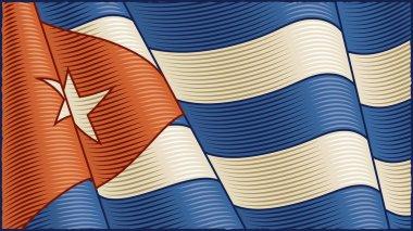 Vintage Cuban Flag (close-up)