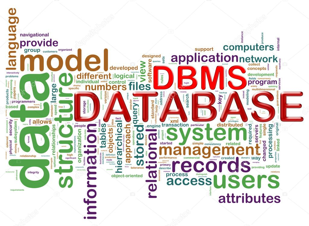 word tags of dbms stock photo nasirkhan 11747723