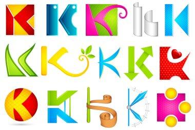 Different Icon with alphabet K