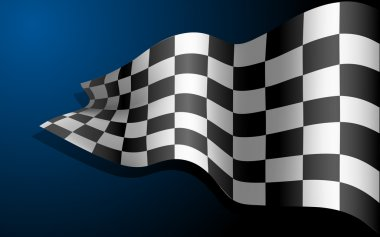 Waving Race Flag