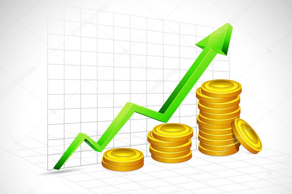 Gold Coin Bar Graph