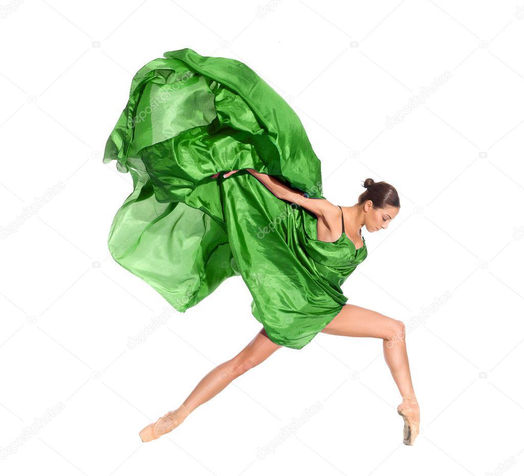 Ballet dancer in the flying dress