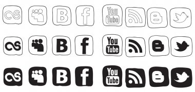 Social media icon black and white