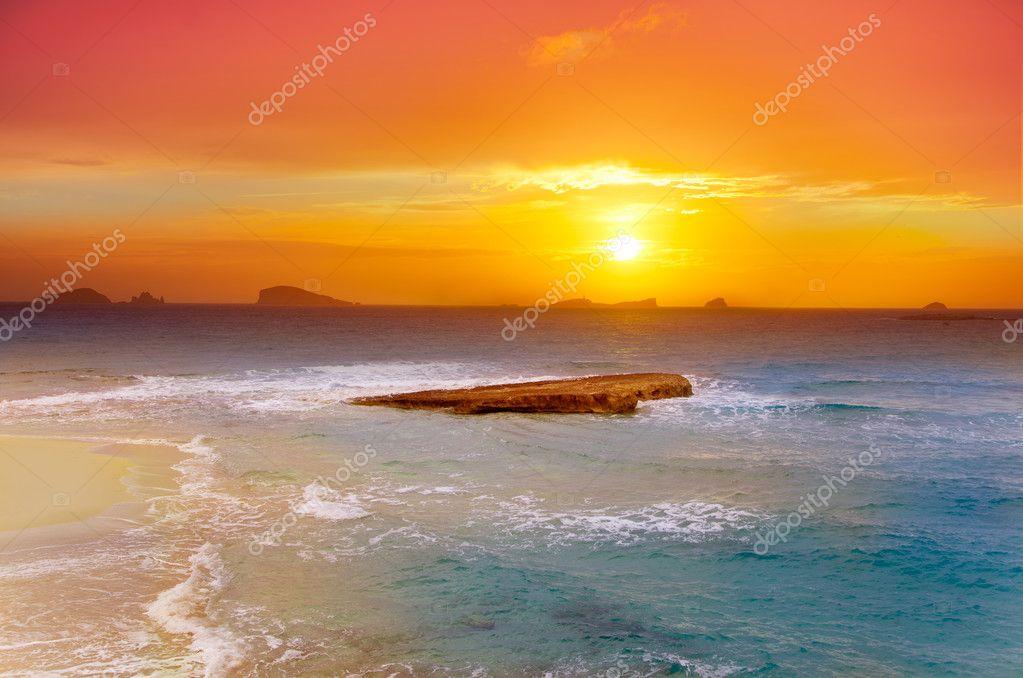 Ibiza Cala Conta Comte Compte sunset