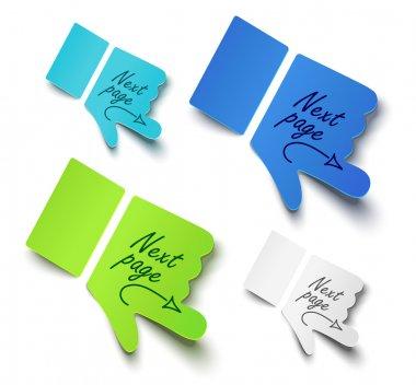 Vector illustration paper hands. Message label stock vector