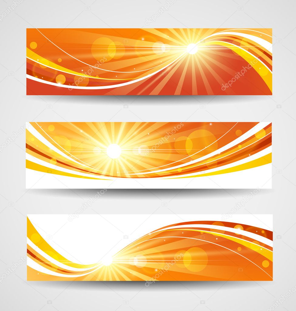 Autumn banners set
