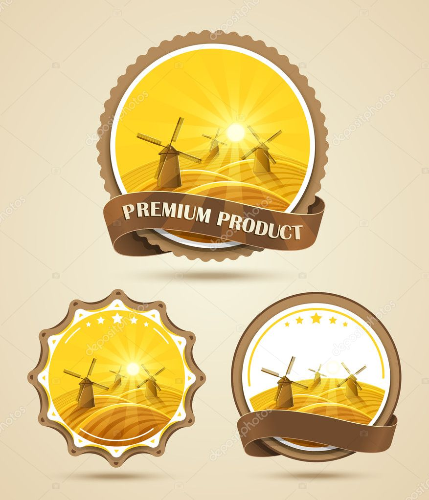 Windmills labels