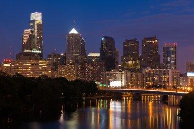 Night view of the Philadelphia skyline