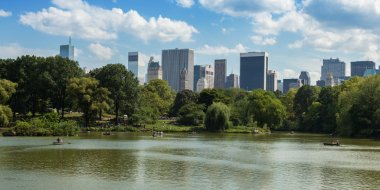 Central Park Lake in Manhattan, New York