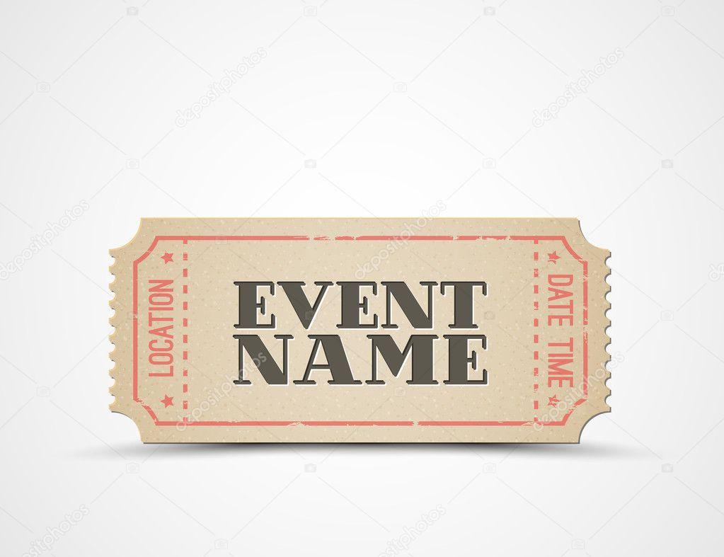 Vektor-Ticket als Vorlage für Ihre Veranstaltung — Stockvektor ...