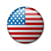 Fotografie Vector badge with american flag
