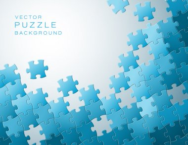 Vector background made from blue puzzle pieces
