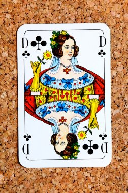 Playing card queen