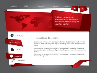 Vector web site design template