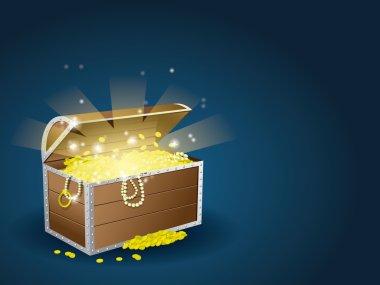 Treasure chest stock vector