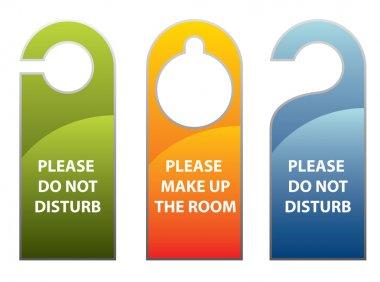 Door knob or hanger sign - do not disturb