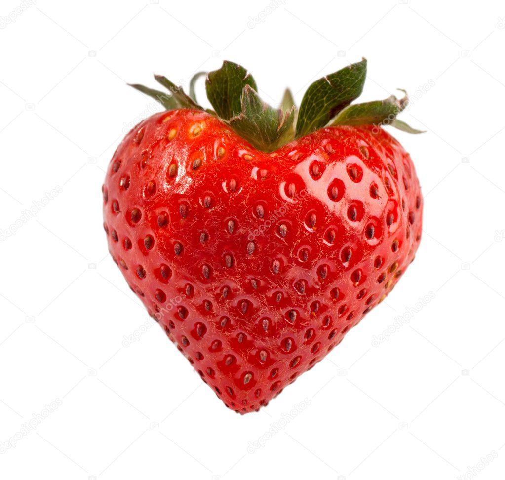 Red ripe strawberry