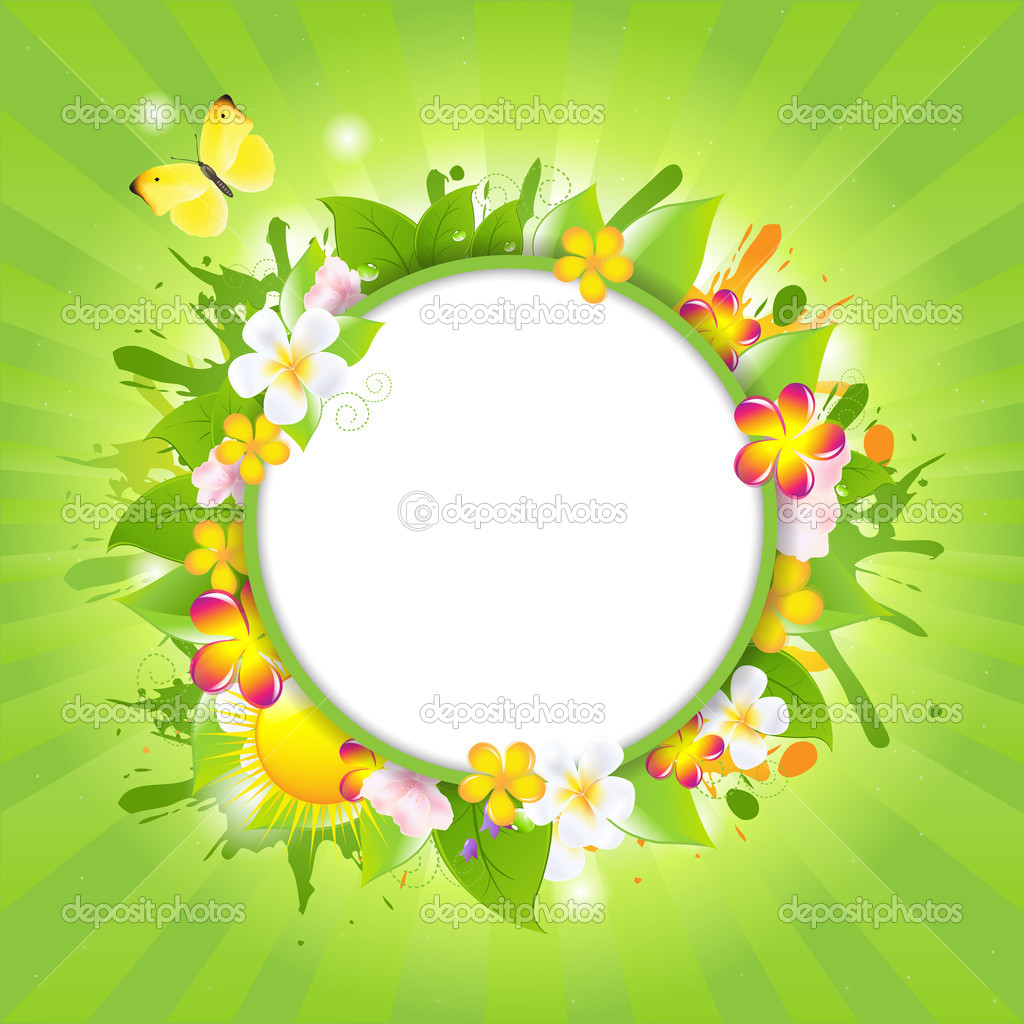 Summer Poster With Flowers