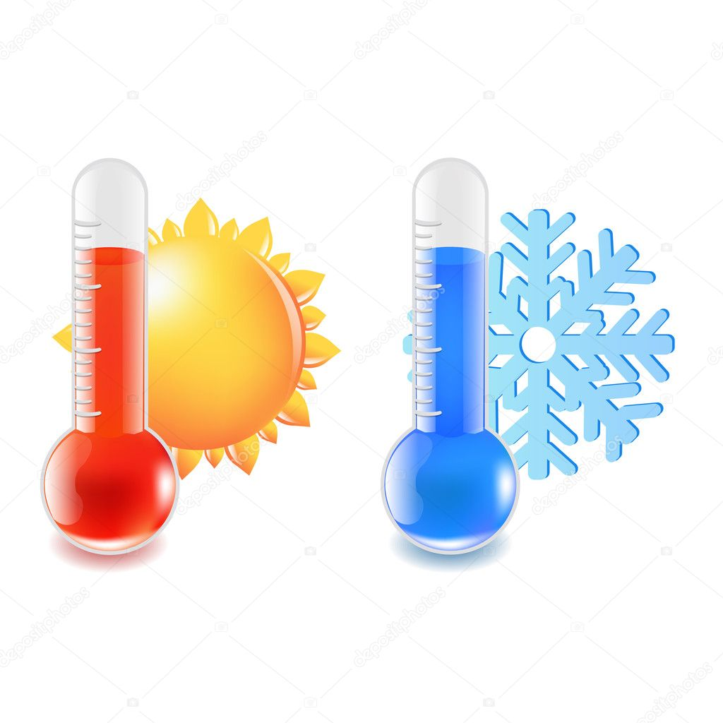 Warme Und Kalte Temperatur Thermometer