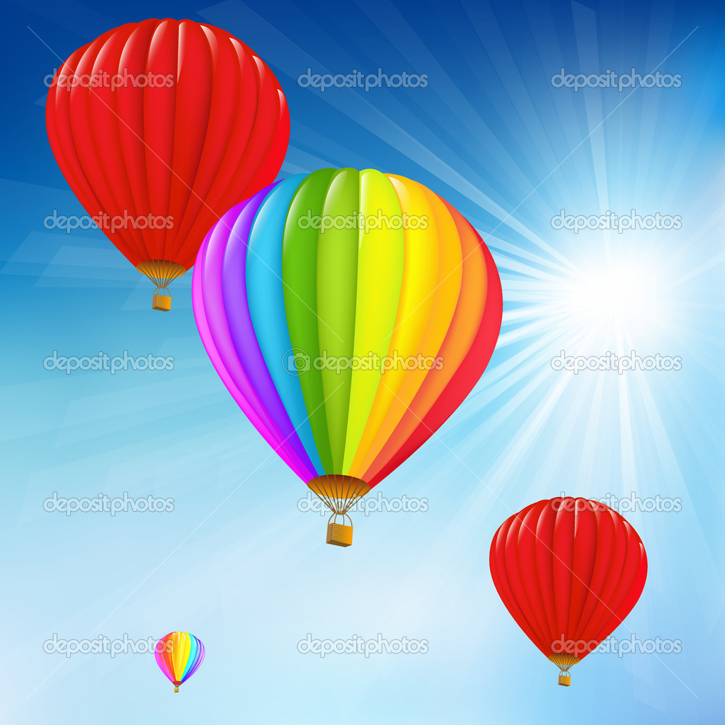 Blue Sky And Air Balloons
