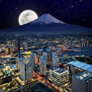 Surreal view of Yokohama city