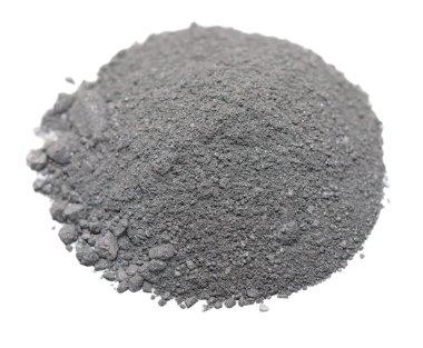 Pile Gunpowder (black powder) Isolated on white background