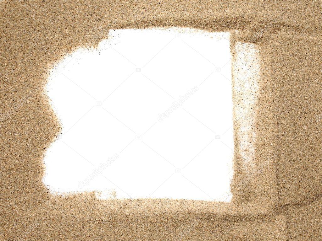 Sand frame — Stock Photo © dusan964 #11652961