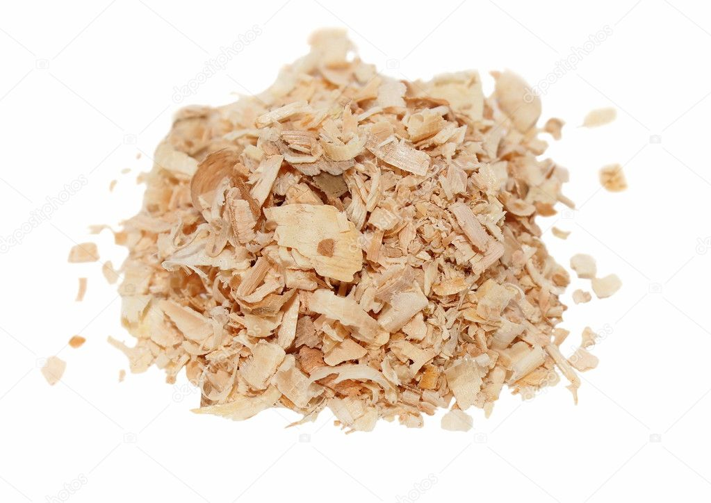 Pile wood shavings background
