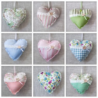 Collage with hearts