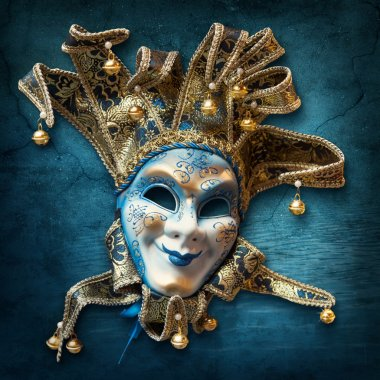 Abstract background with venetian mask