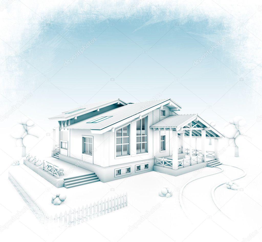 Progetto casa foto stock vadmary 11638085 - Disegno progetto casa ...