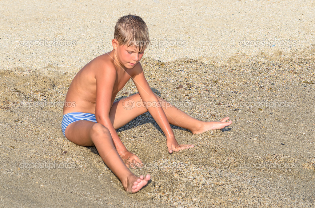 Depositphotos Stock Photo Boy Playing The Sand Teen Girl Beauty Pics