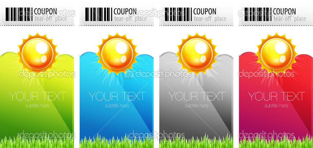 Tear-off nature coupons