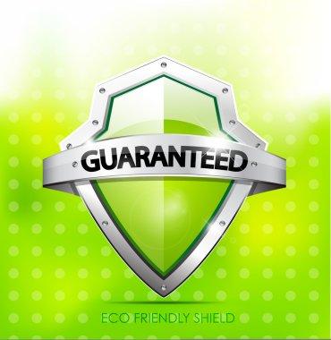 Eco friendly guarantee shield