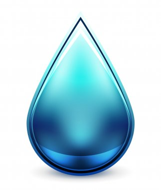 Hi-tech water drop icon